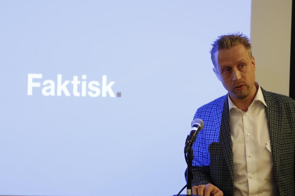 Faktisk.no-redaktør, Kristoffer Egerberg, slår tilbake mot Nettavisen-redaktør Gunnar Stavrum.