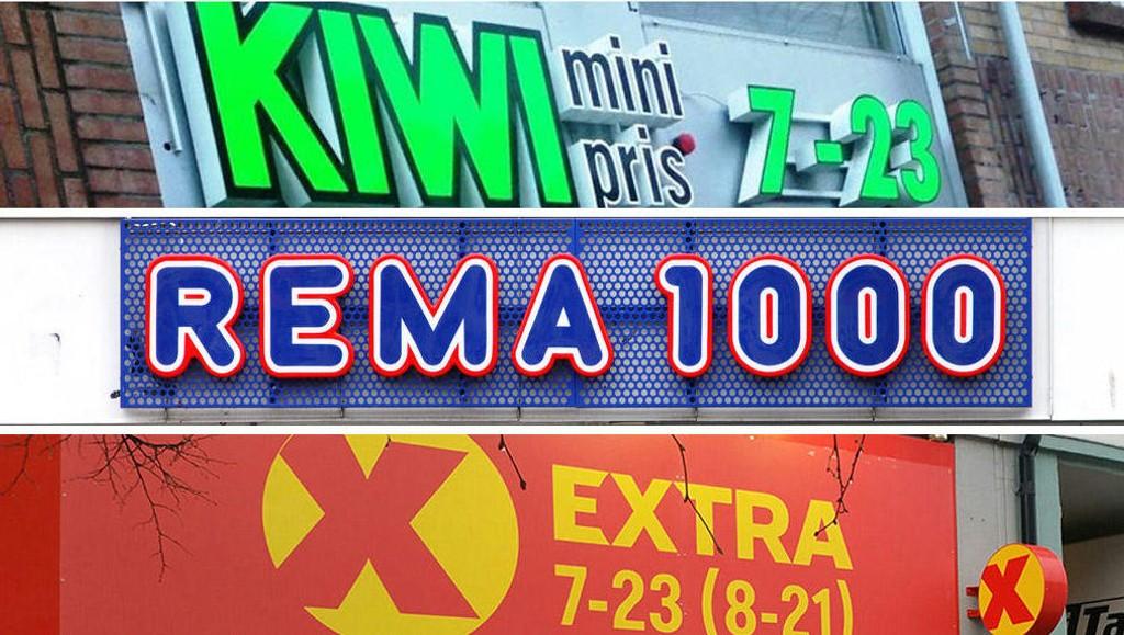 ØKER: Rema 1000, Kiwi og Extra øker alle markedsandelen sin.