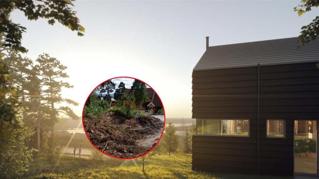 BØTELAGT FOR VILLEDENDE MARKEDSFØRING: Boligutbyggeren Solon Eiendom brukte illustrasjoner i markedsføringen av et boligprosjekt der nabobebyggelse, strømstolper og trær var utelatt.