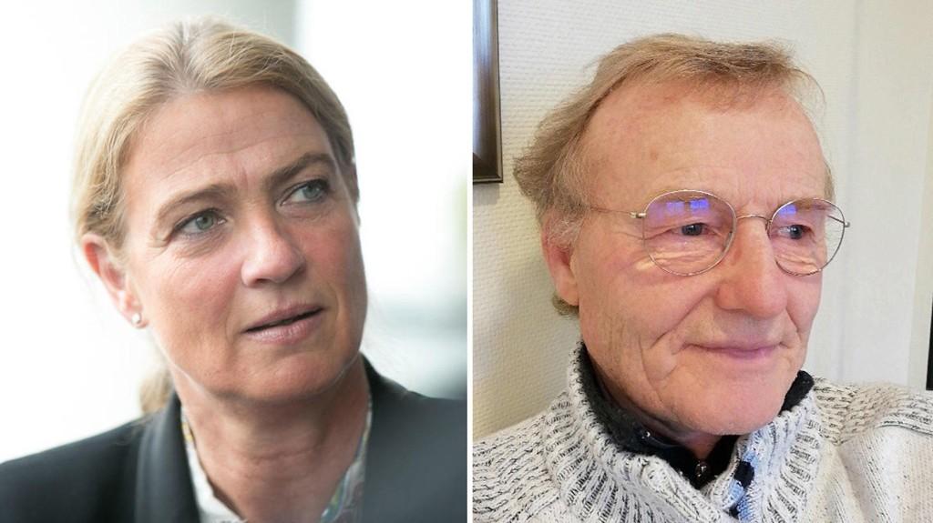 HYLLES: Ordfører Knut Jentoft (70) i Storfjord kommune i Troms har takket nei til godtgjørelse som ordfører. Nå hylles han blant annet av administrerende direktør i Skattebetalerforeningen, Karine Ugland Virik (bildet).