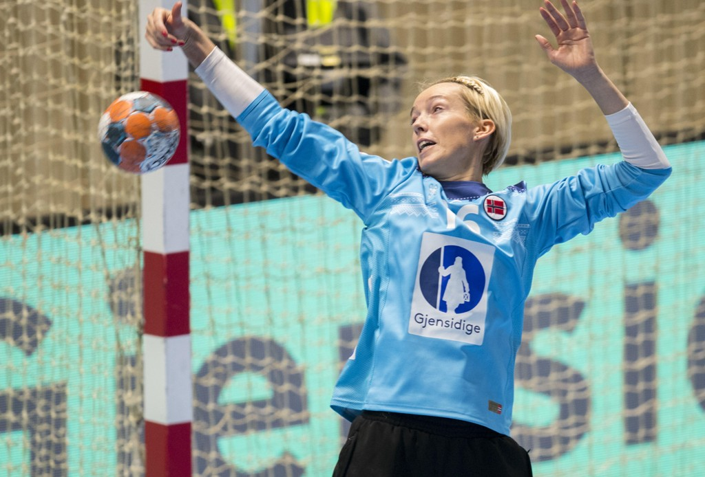 Katrine Lunde var god for Vipers onsdag kveld. Her i aksjon for Norge i september. Foto: Vidar Ruud / NTB scanpix.