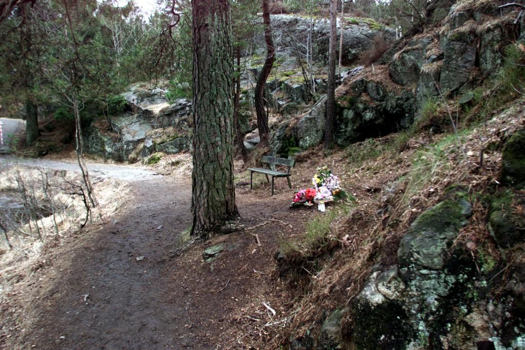 I dette området i Baneheia i Kristiansand ble de to jentene drept i mai 2000. Dømte Viggo Kristiansen jobber for å få saken gjenopptatt. Foto: Lise Åserud / NTB scanpix