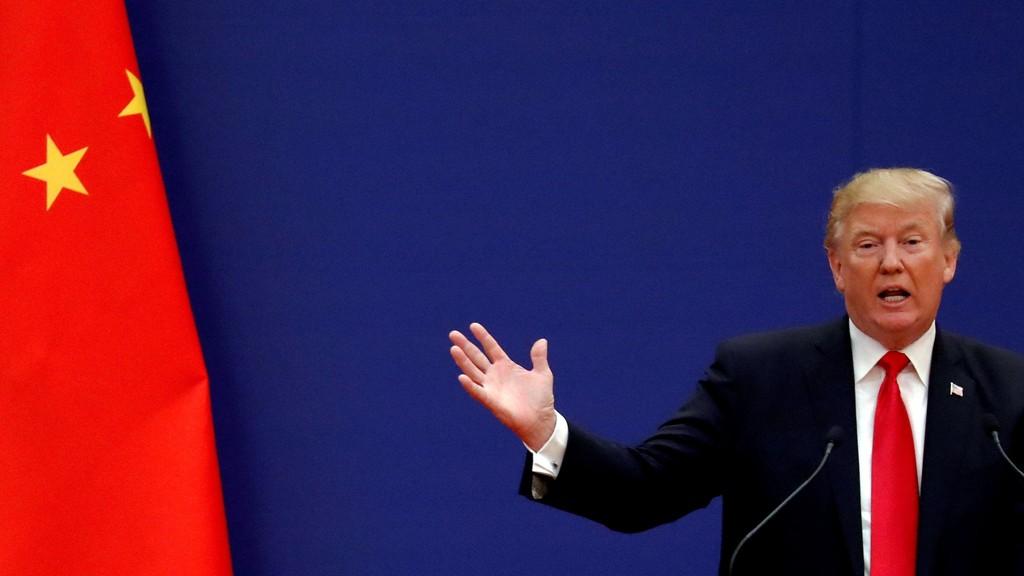 Kinesisk med rekordeksport til USA på tross av å bli ilagt strenge toller på opptil 25 prosent i den eskalerende handelskonflikten med USA. Illustrasjonsfoto: Donald Trump holdt tale i Beijing 9. november 2017.