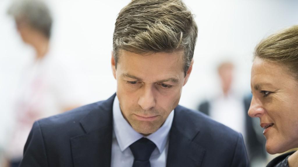SPLITTET: Partileder Knut Arild Hareide og generalsekretær Hilde Frafjord Johnson leder et Kristelig Folkeparti som både er splittet og under sperregrensen.