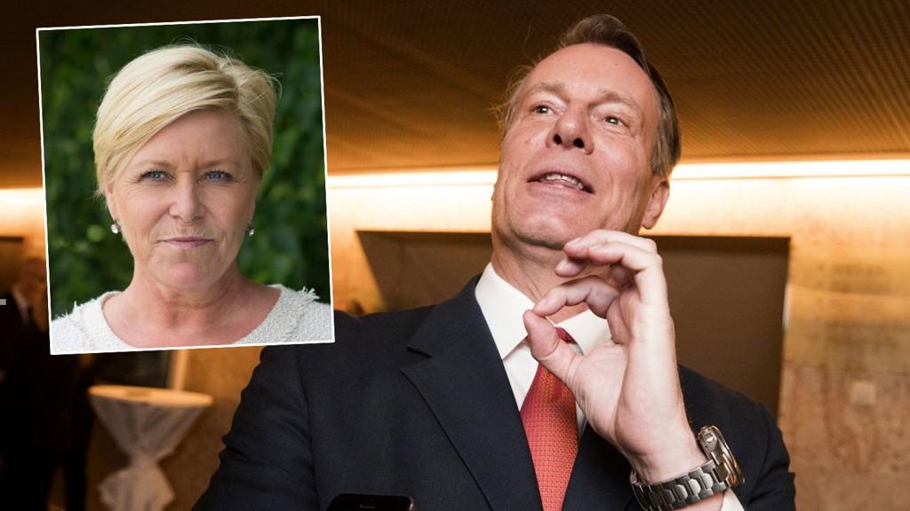 HYTTE TIL BESVÆR: Finansminister Siv Jensen leier sommerhytte av milliardær Johan H. Andresen.
