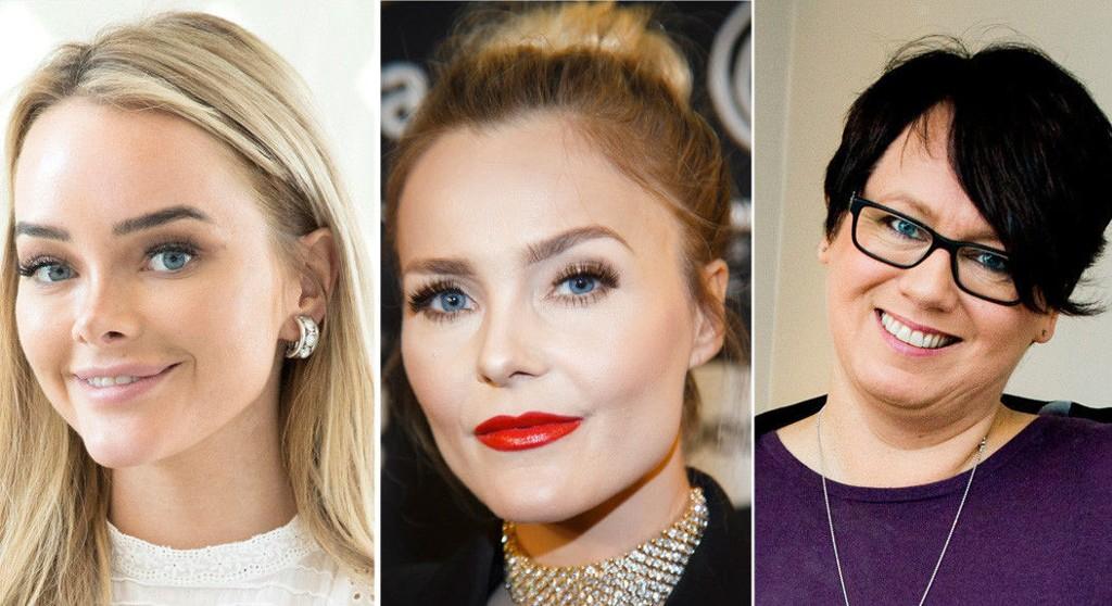 PÅ TOPP: Sophie Elise Isachsen, Caroline Berg Eriksen og Trine Sandberg ligger i inntektstoppen blant bloggerne.