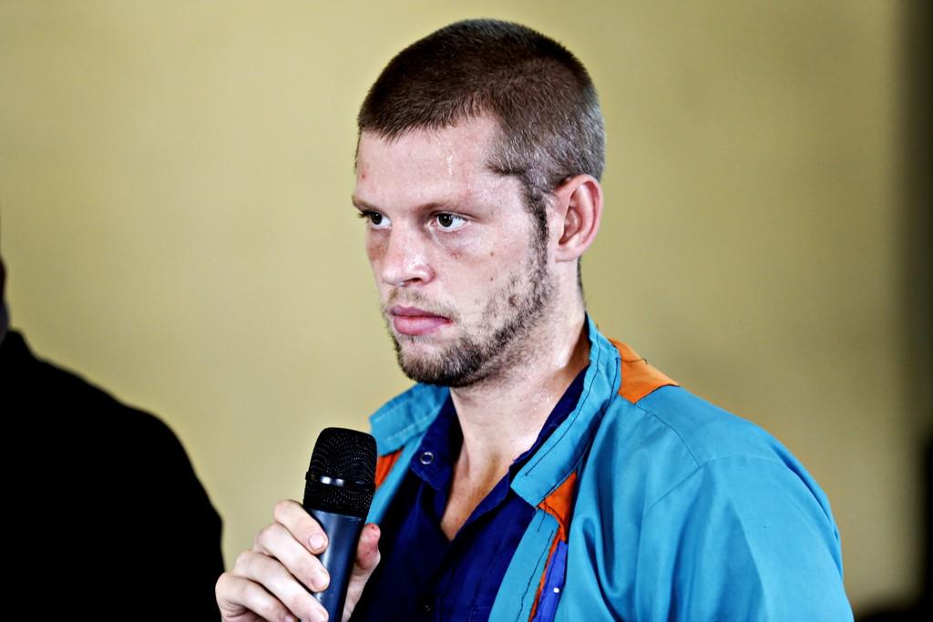 Joshua French i retten i Kinshasa i Kongo i 2014. Foto: Marte Christensen / NTB scanpix