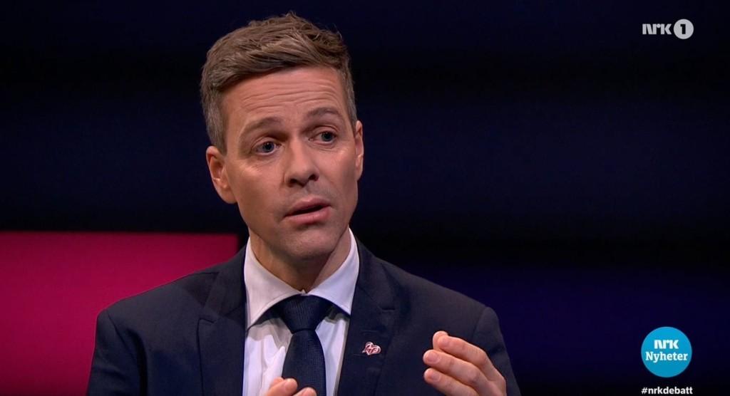 DEBATTEN: Knut Arild Hareide gjestet NRK-programmet Debatten fredag kveld.