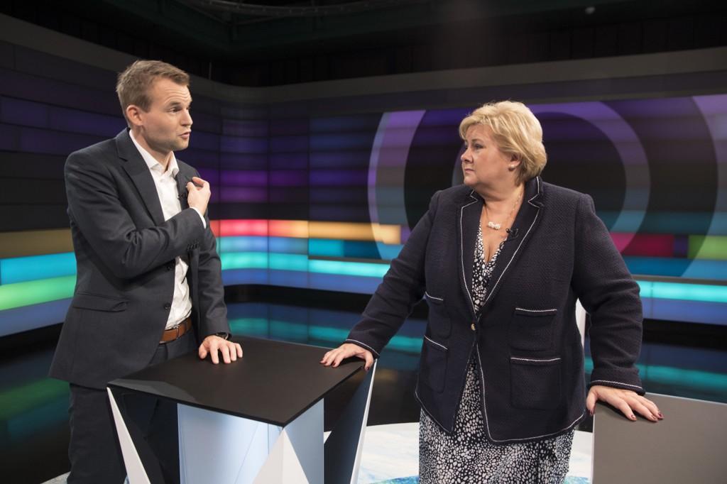 VANSKELIG SAK: Statsminister og Høyre-leder Erna Solberg skal forhandle med Kjell Ingolf Ropstad og Kristelig Folkeparti om regjeringsdeltakelse. Abort blir et vanskelig tema.