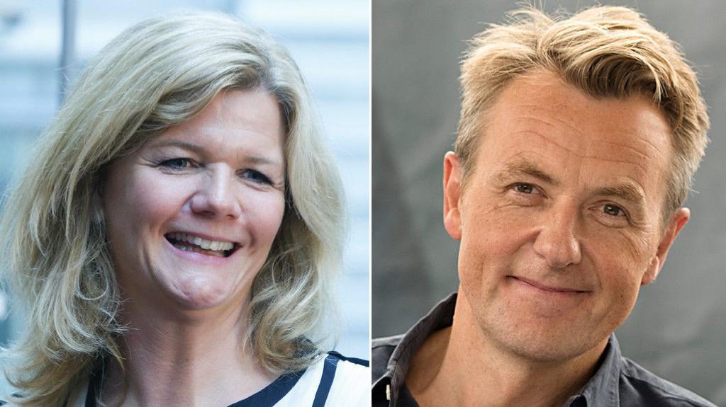TV-DUELL: I 2017 jobbet både Anne Lindmo og Fredrik Skavlan i NRK, med hvert sitt helge-talkshow. Nå er de konkurrenter hver fredagskveld.