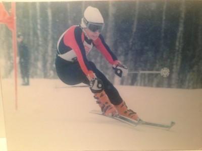 UNG: Maurstad som 13-åring med Dynastar-ski, Lange-støvler og Kerma-staver. privat