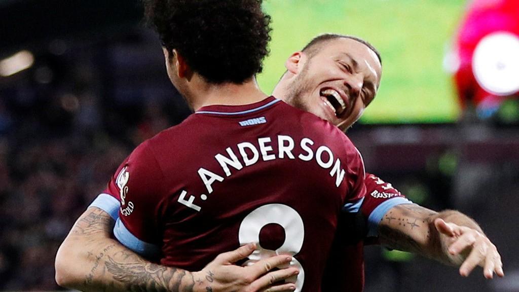 Felipe Anderson og Marko Arnautovic stod for tre av målene til West Ham i 4-2 seieren hjemme mot Burnley sist lørdag. Duoen har vært blant West Hams beste spillere denne sesongen.