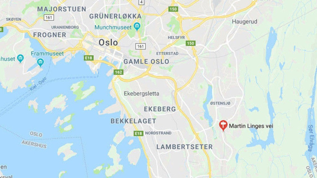 SKUDD AVFYRT: Politiet fikk melding ca. kl. 19 på onsdag om at det var blitt avfyrt skudd på Bogerud.
