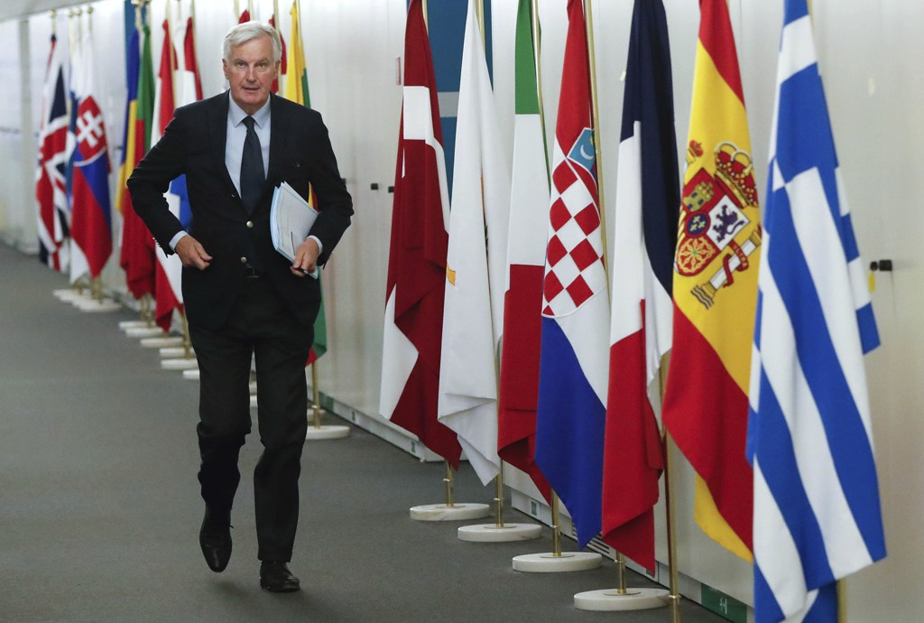 EUs forhandlingsleder Michel Barnier. Foto: AP / NTB scanpix