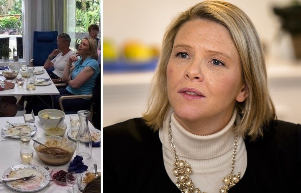 Frp-controlled Os The image of Listhaug eating with the patients of the municipality's dementia department was accompanied by a photo of a dinner old man from the KrF-Ap controlled Bergen municipality. The purpose was to contend Listhaug's claim that Os was older and offered good food.