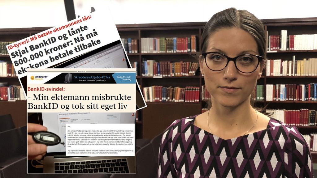 KJØRVEN: Førsteamanuensis Marte Eidsand Kjørven ved juridisk fakultet ved UiO forklarer hvorfor forbrukernes ansvar er så ulik, avhengig av type svindel.