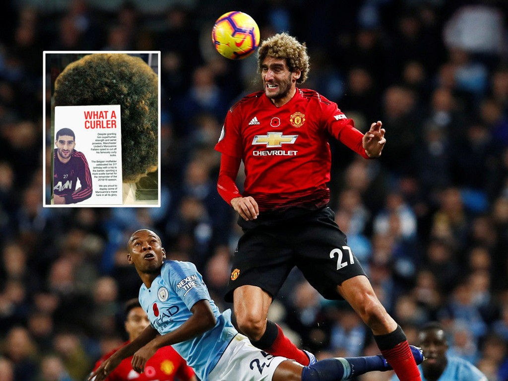 MAGIC EVENTS? Man. City player Fernandinho did not have much genius in this title with Man. United rivals Marouane Fellaini. Now this other short-term hair is somewhat uncertain whether the alleged magic has ever appeared again.
