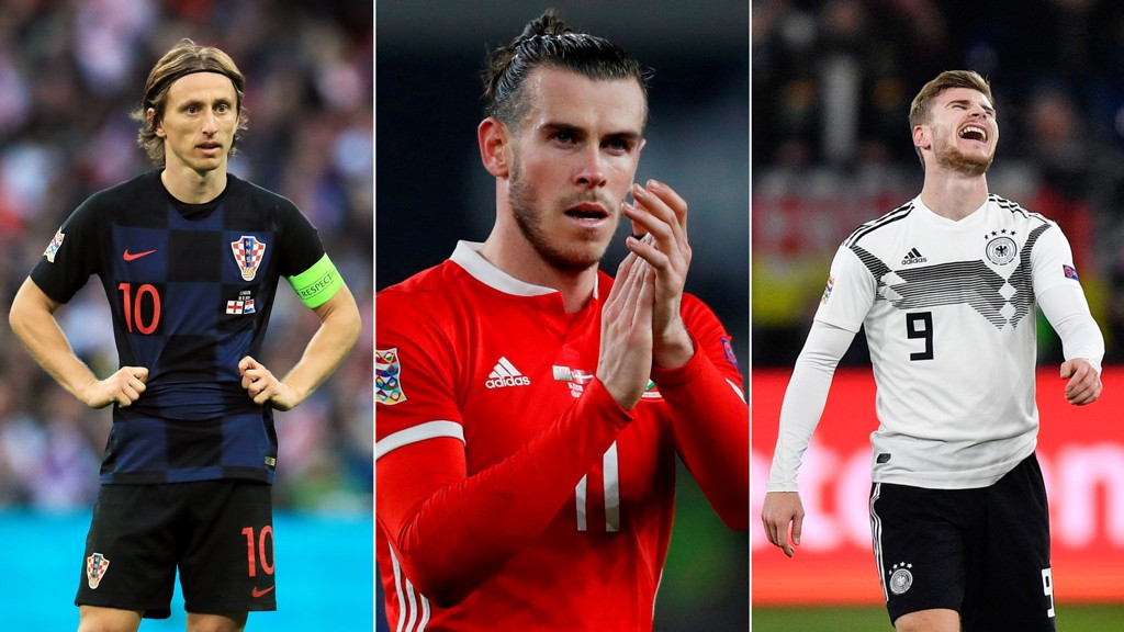POSTING: Croatia with Lucas Montreux (left), Wales with Gareth Bale (in the middle) or Germany and Timo Werner can wait for the Norwegian national team at the League Nations in two years.