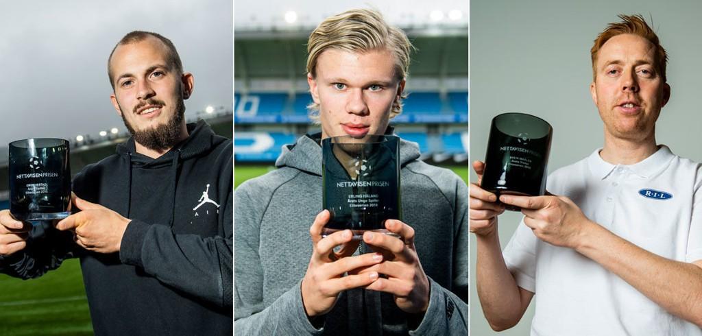 VINNERNE AV NETTAVISEN-PRISEN: Eirik Hestad (venstre), Erling Braut Håland (midten) og Svein Maalen (høyre).