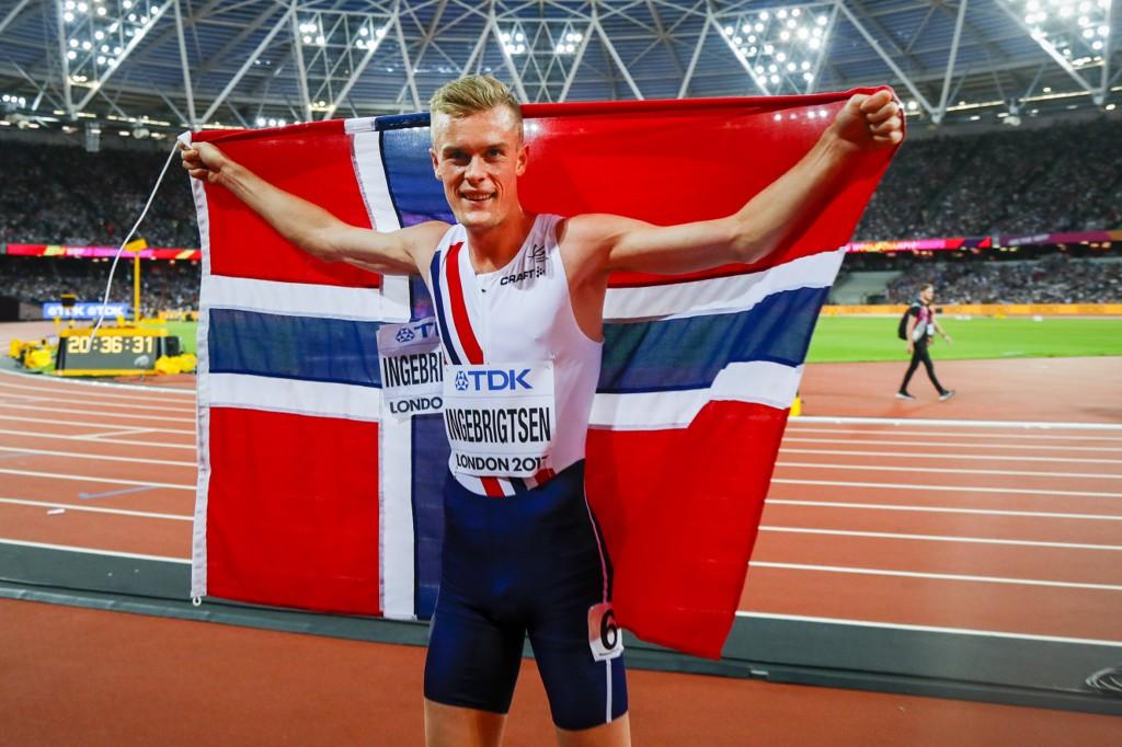 KORTERE REISE: Filip Ingebrigtsen tok bronsen på 1500 meter under forrige friidretts-VM i London 2017. De to neste mesterskapene arrangeres i Asia og Amerika.