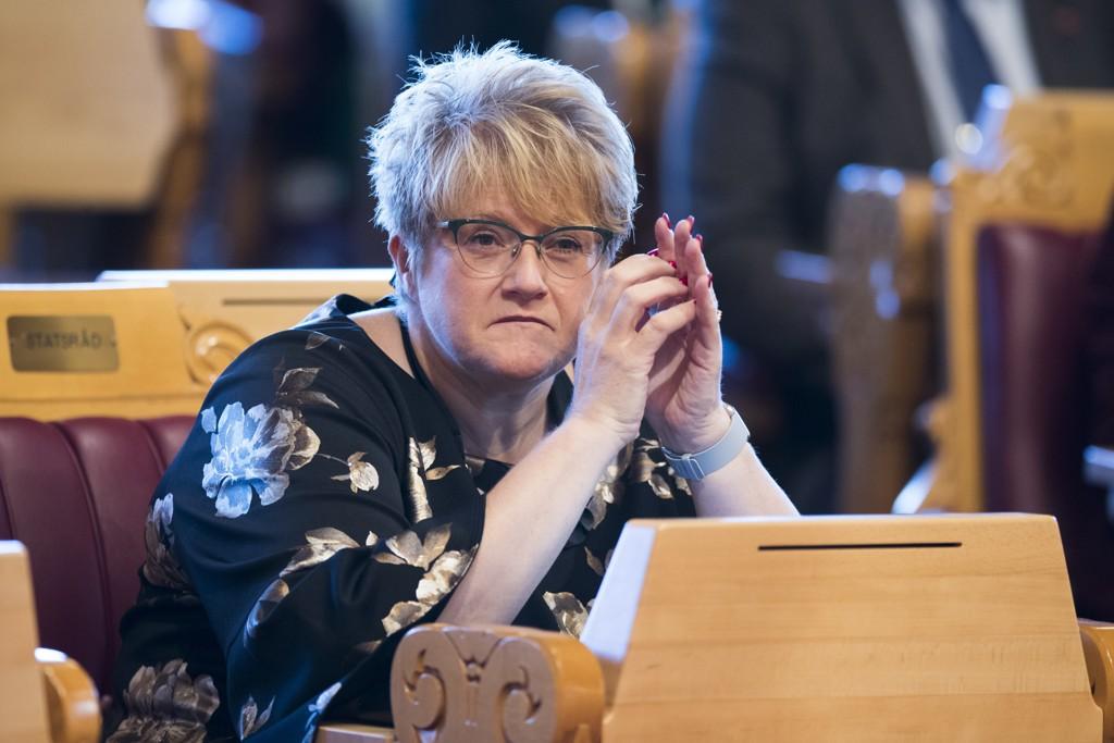 Det stormer rundt kulturminister og Venstre-leder Trine Skei Grande om dagen. Foto: Terje Pedersen / NTB scanpix