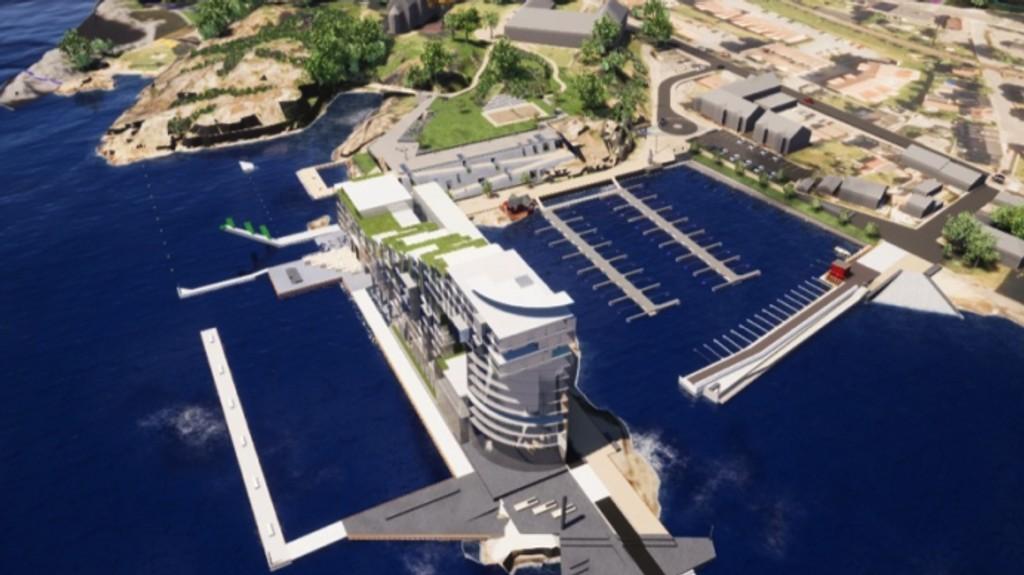 Her vil Larvik Marina bygge stort.