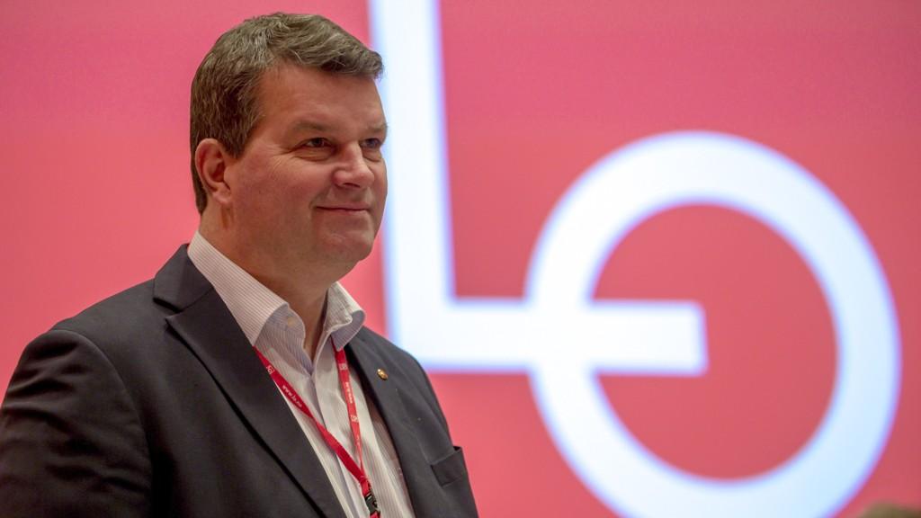 LO-leder Hans-Christian Gabrielsen får støtte fra et stort flertall medlemmene i privat sektor til årets meklingsresultat. Foto: Cornelius Poppe / NTB scanpix