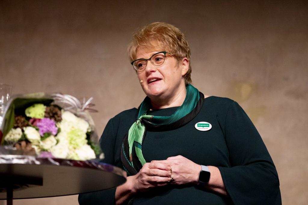 Venstre-leder og kulturminister Trine Skei Grande er glad for at Abid Raja har akseptert unnskyldningen hennes. Foto: Fredrik Hagen / NTB scanpix