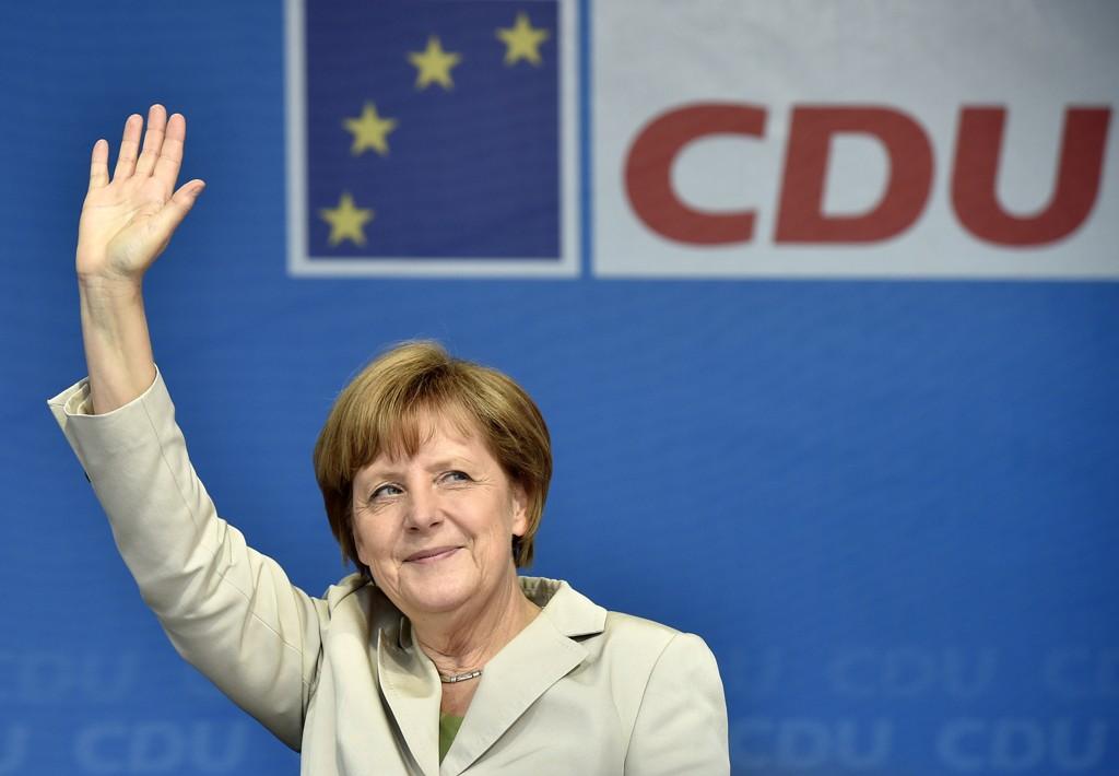 På Angela Merkels nest siste dag som partileder, går CDU fram på kringkasteren ARDs partibarometer. Arkivfoto: Martin Meissner / AP / NTB scanpix