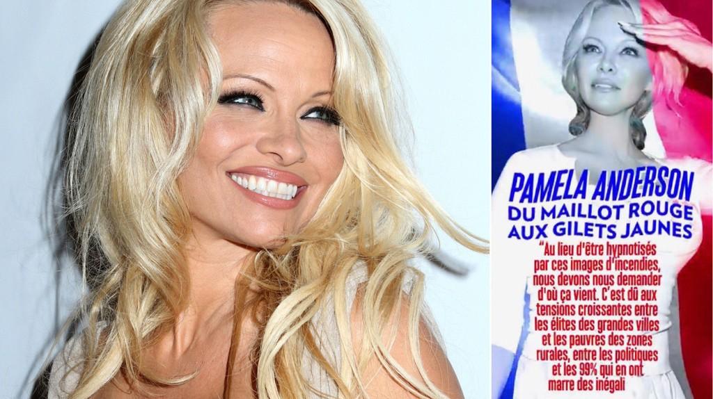 Den tidligere Baywatch-stjernen har sluttet seg til de pågående protestene i Frankrike (den såkalte Gule vestene-bevegelsen), og har postet et bilde av seg selv på Twitter med følgende påskrift: «Pamela Anderson. Fra rød badedrakt til gul vest»