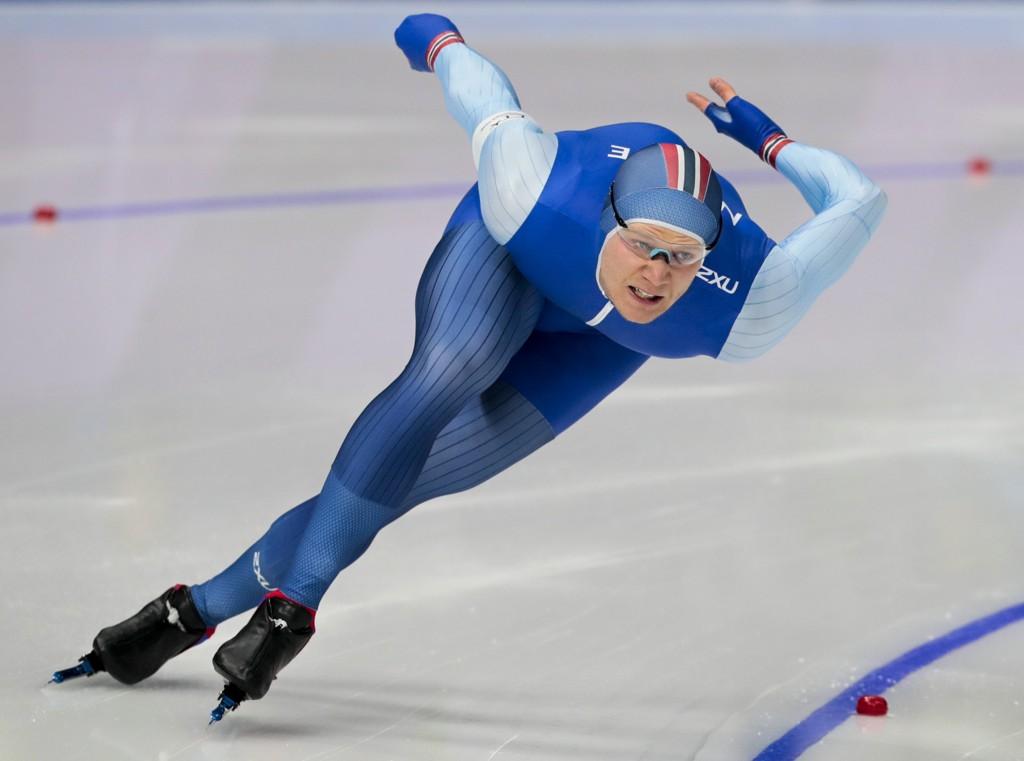 Håvard Holmefjord Lorentzen klarte ikke å ta seieren på 1000-meteren i Polen fredag. Foto: Lise Åserud / NTB scanpix