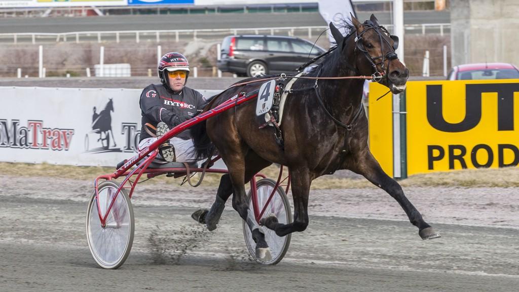 Fabian B.R og Geir Vegard Gundersen vant sist. I kveld er sjansene gode for gjentagelse. Foto: Morten Skifjeld/ Hesteguiden.com