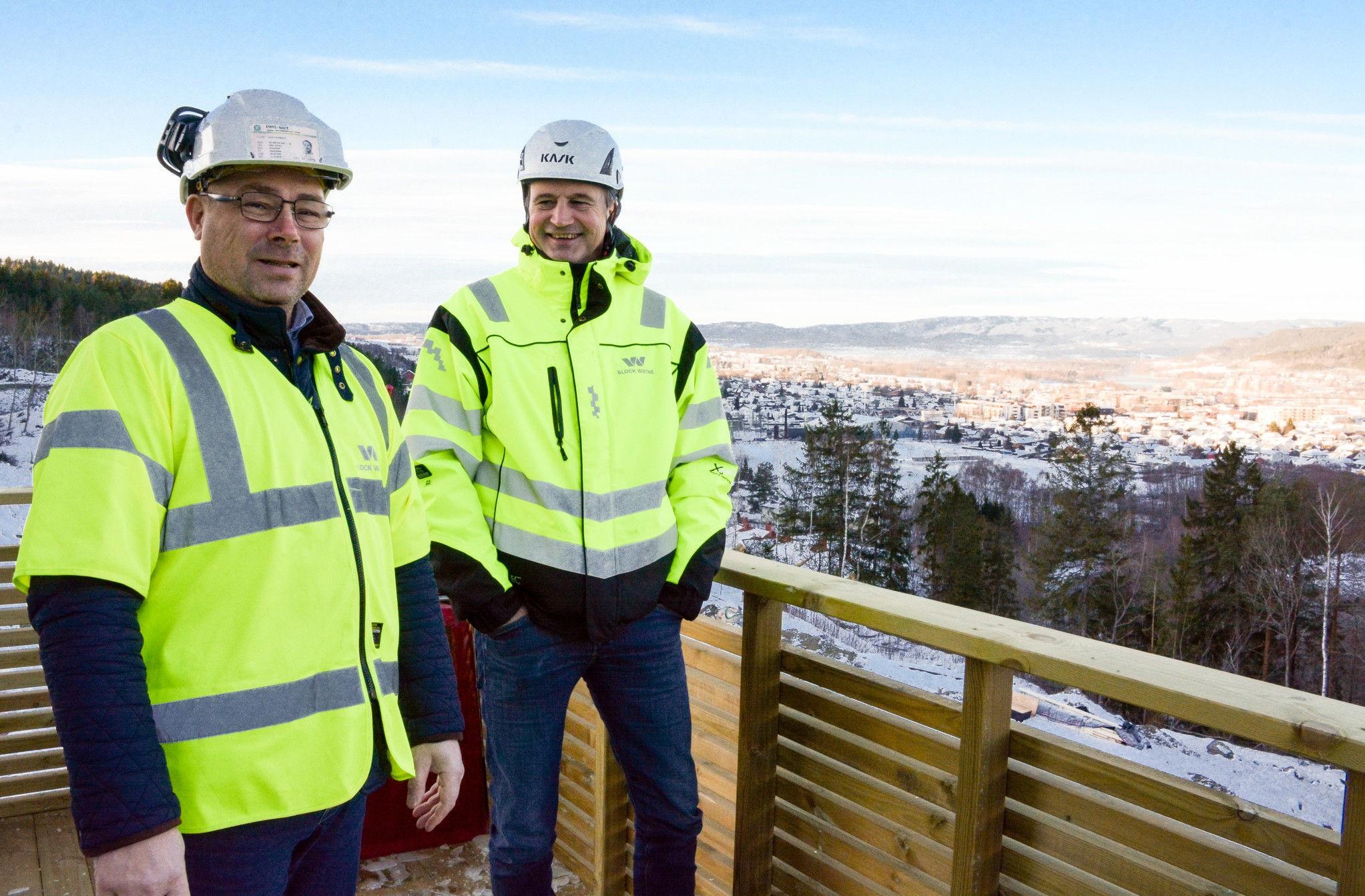 Prosjektleder Kjell Ottar Johansen og salgskonsulent Espen Oland.