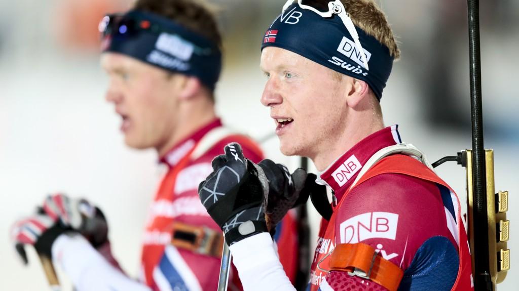 For første gang denne sesongen stiller Norge med både Johannes Thingnes Bø og Tarjei Bø på laget i en herrestafett.