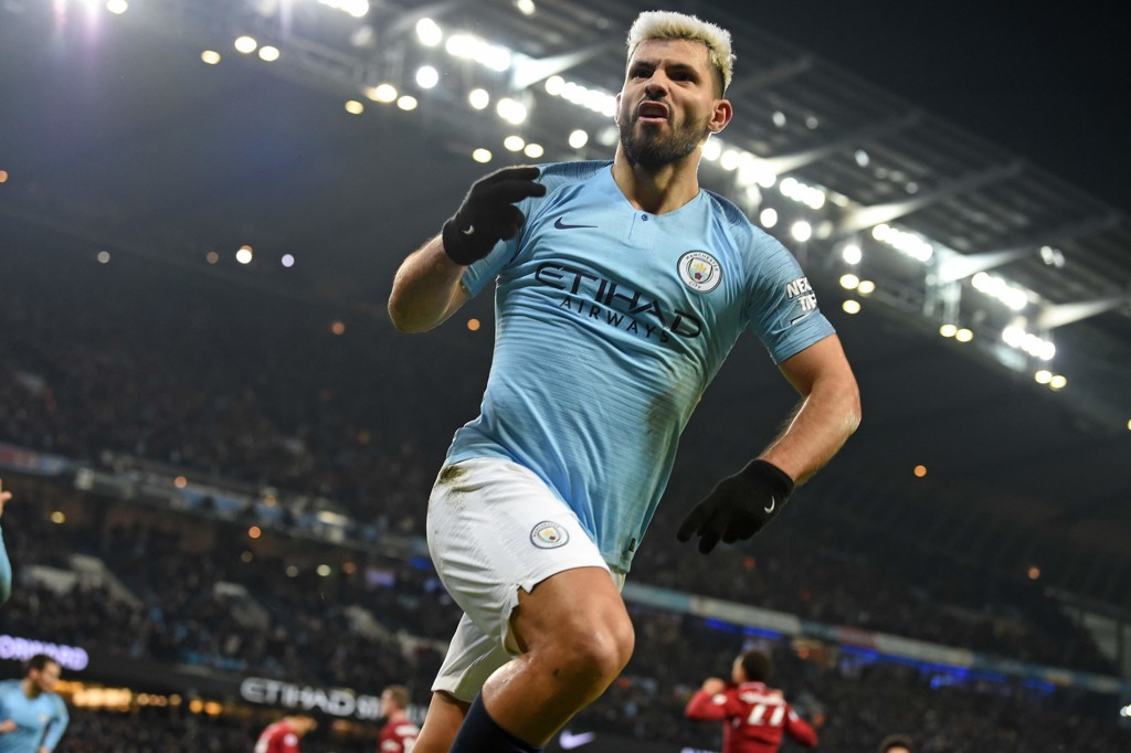 Sergio Aguero stod for alle tre målene til Manchester City da de slo Arsenal 3-1 hjemme på Etihad forrige søndag.