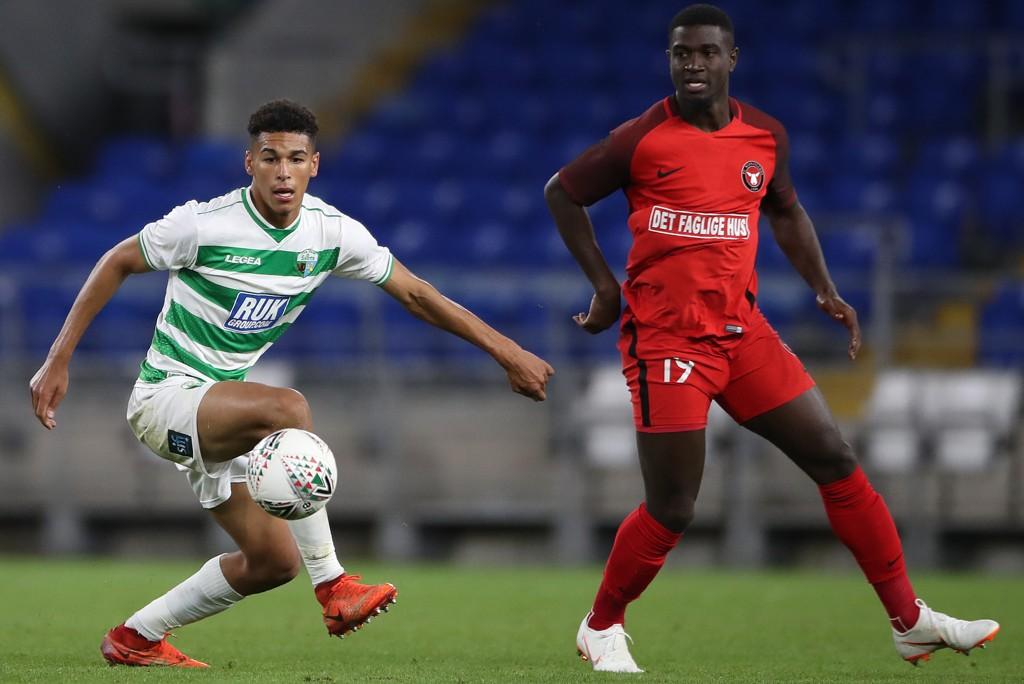 FC Midtjylland og Mayron George (t.h.) trenger tre poeng i mandagens kamp motVendsyssel.