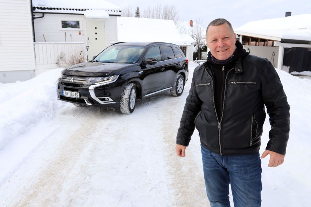 Da Ronny Sigde skulle skaffe seg ny bil, falt valget på nye Mitsubishi Outlander PHEV.
