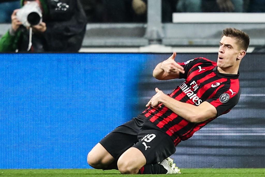 Krzysztof Piatek står uten scoring i de tre siste kampene for AC Milan, men vi tror polakken kan komme til å gjøre en forskjell mot Bologna mandag kveld. (Photo by Isabella BONOTTO / AFP)