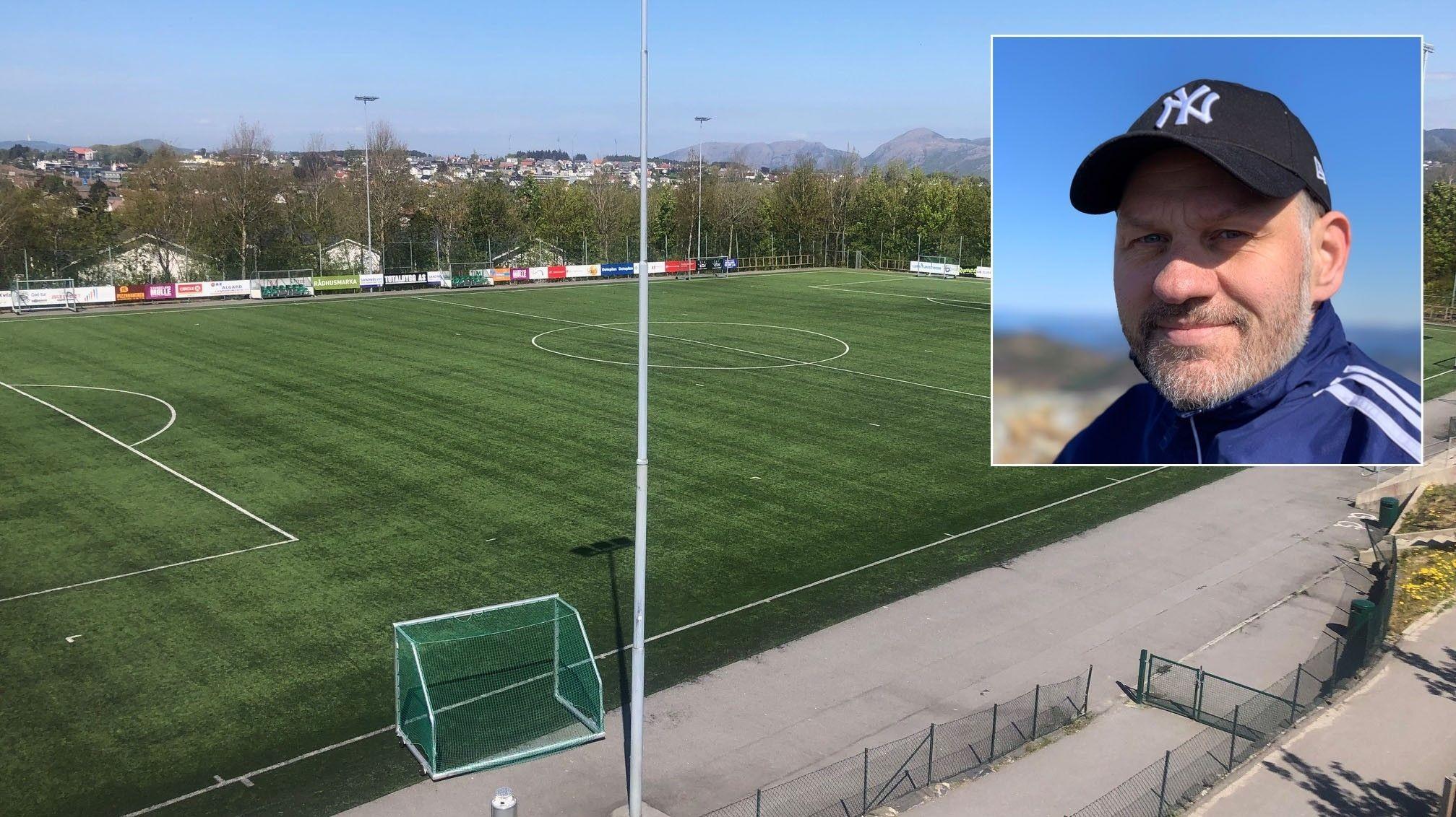 Jone Vegard Thorsenhar har vært trener og daglig leder i Sandved IL i Sandnes i til sammen seks år. Nå håper han å få bygget et nytt klubbhus finansiert av dugnadspenger.