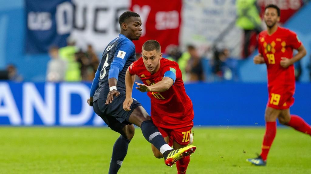 Eden Hazard og hans Belgia blir store favoritter hjemme mot Skottland.