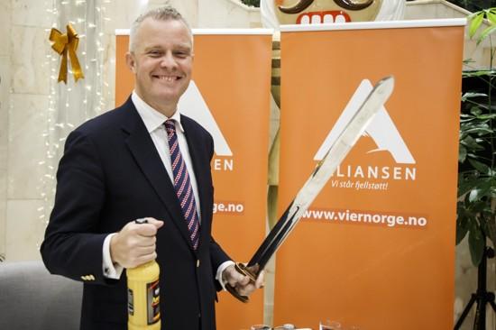 Hans Lysglimt Johansen lanserte torsdag partiet Alliansen under en markering i Oslo.