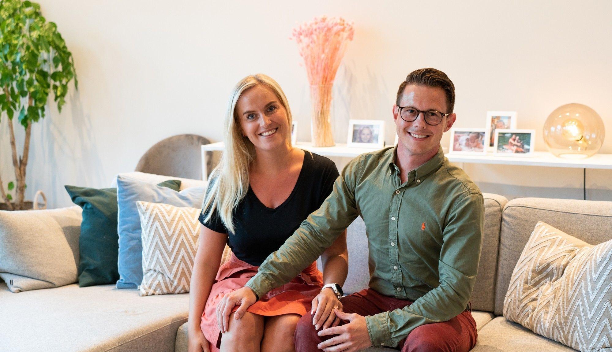 Martine og Joakim flyttet inn på Granåstoppen i november 2018, og stortrives i sin moderne, nye bolig.