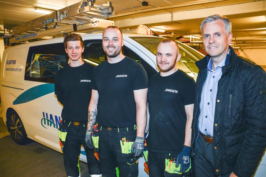 Andreas Dagsloth, Terje Kjelling, Erlend Lehne og André Johnsløv. Foto.
