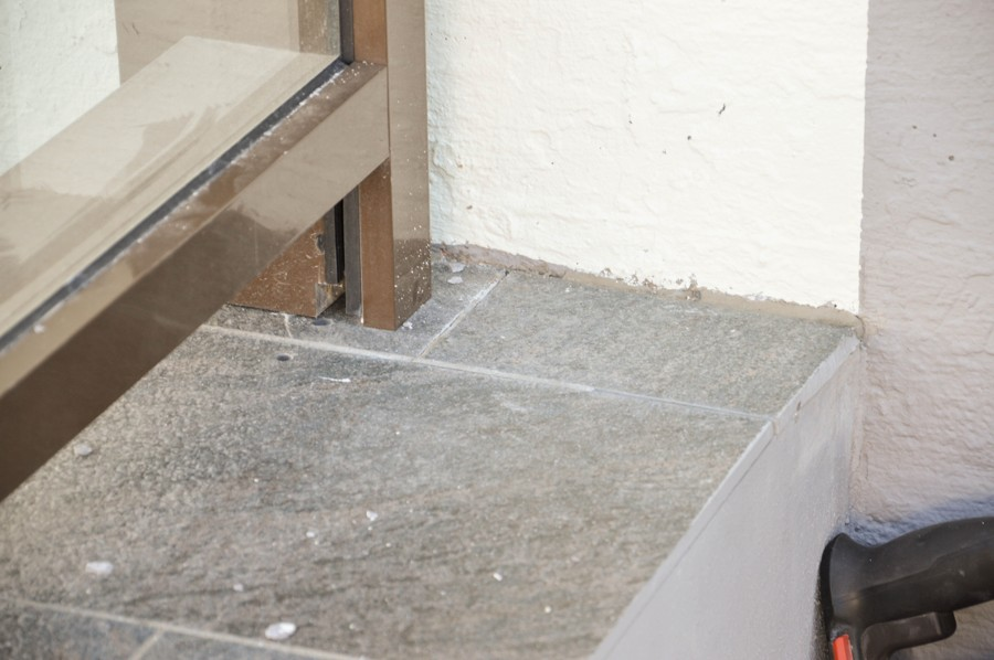 Trappen etter at feilen er lokalisert og reparert. Foto.