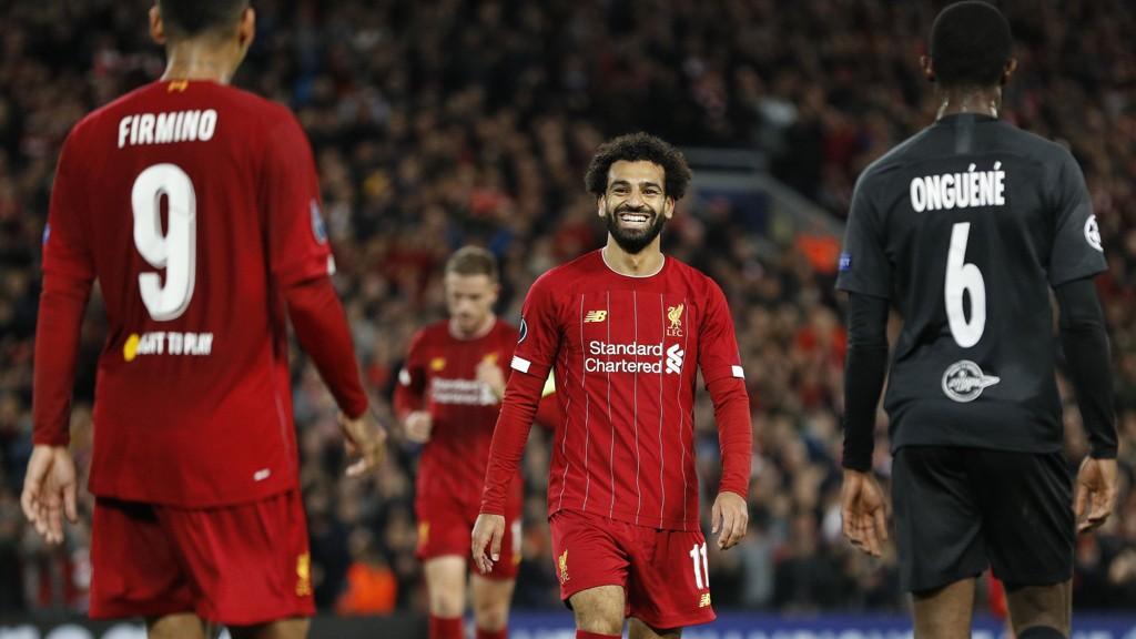 Mohamed Salah scoret seiersmålet for Liverpool hjemme mot Salzburg i forrige runde og er med i Liverpools tropp som har reist til Belgia.