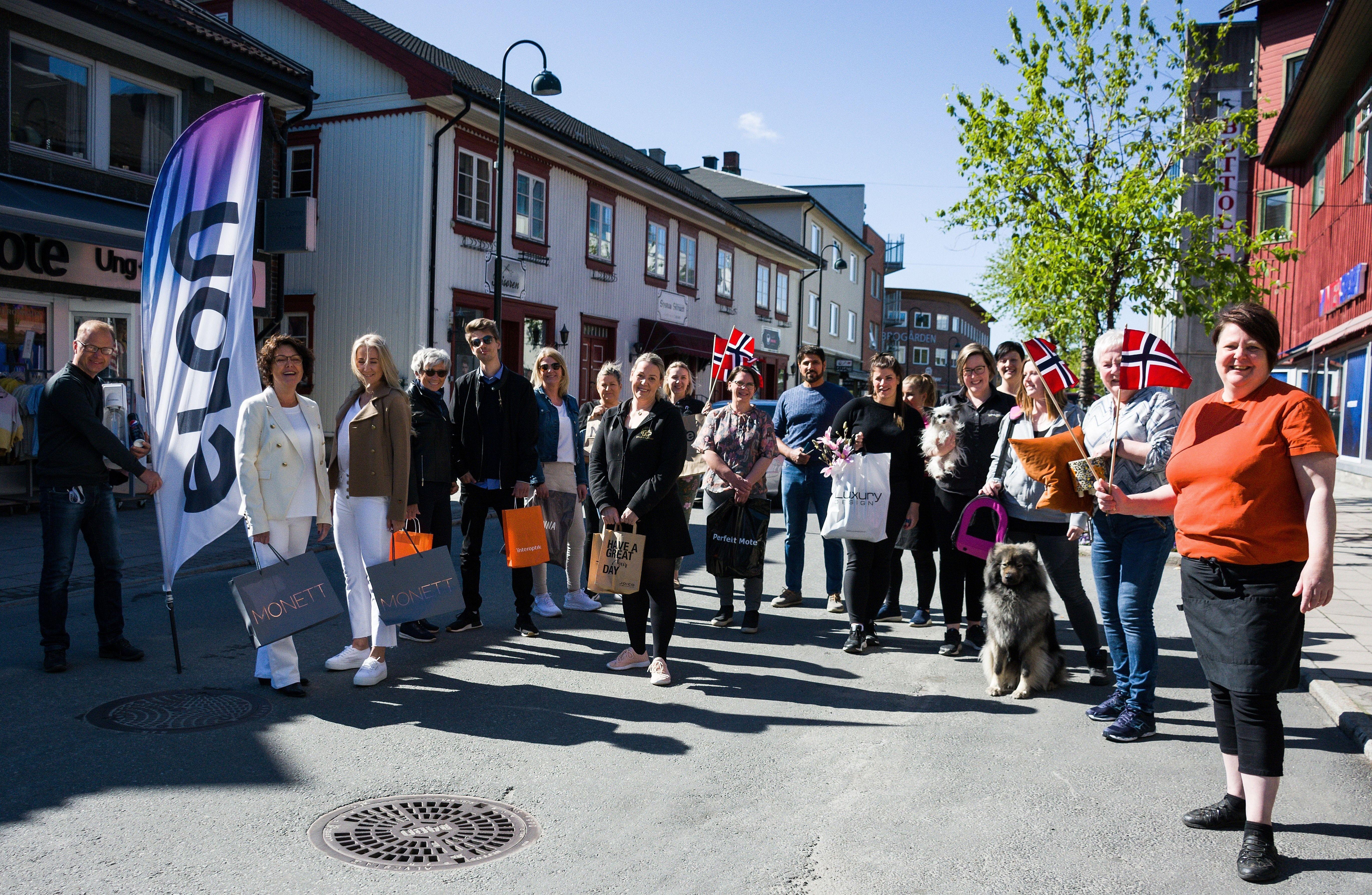 Den lokale handelsstanden ønsker velkommen til Vikersundgata!