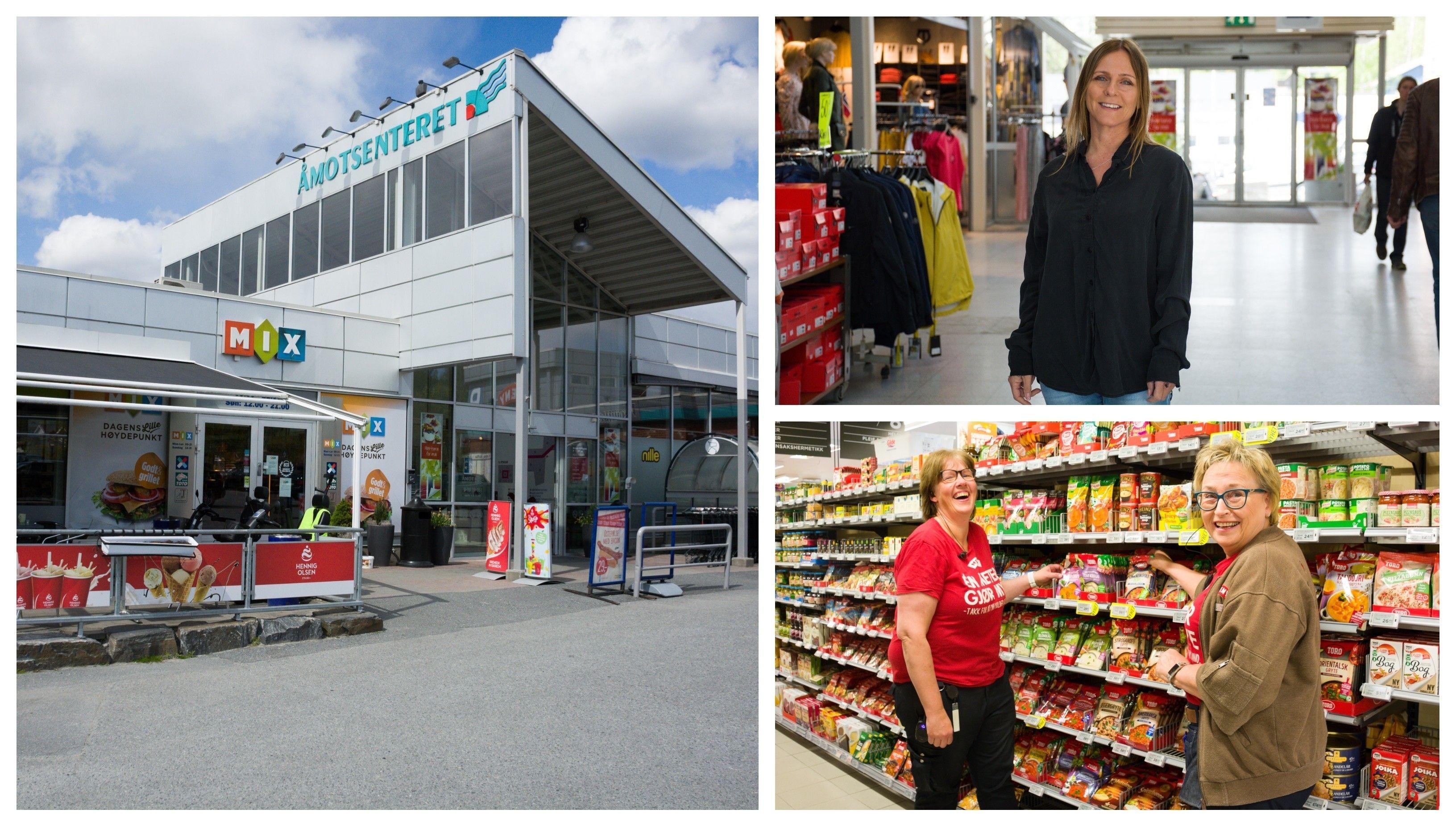 Den lokale handelsstanden er avhengig av sine kunder i disse tider. Åmotsenteret gleder seg over alle kunder som tar turen.