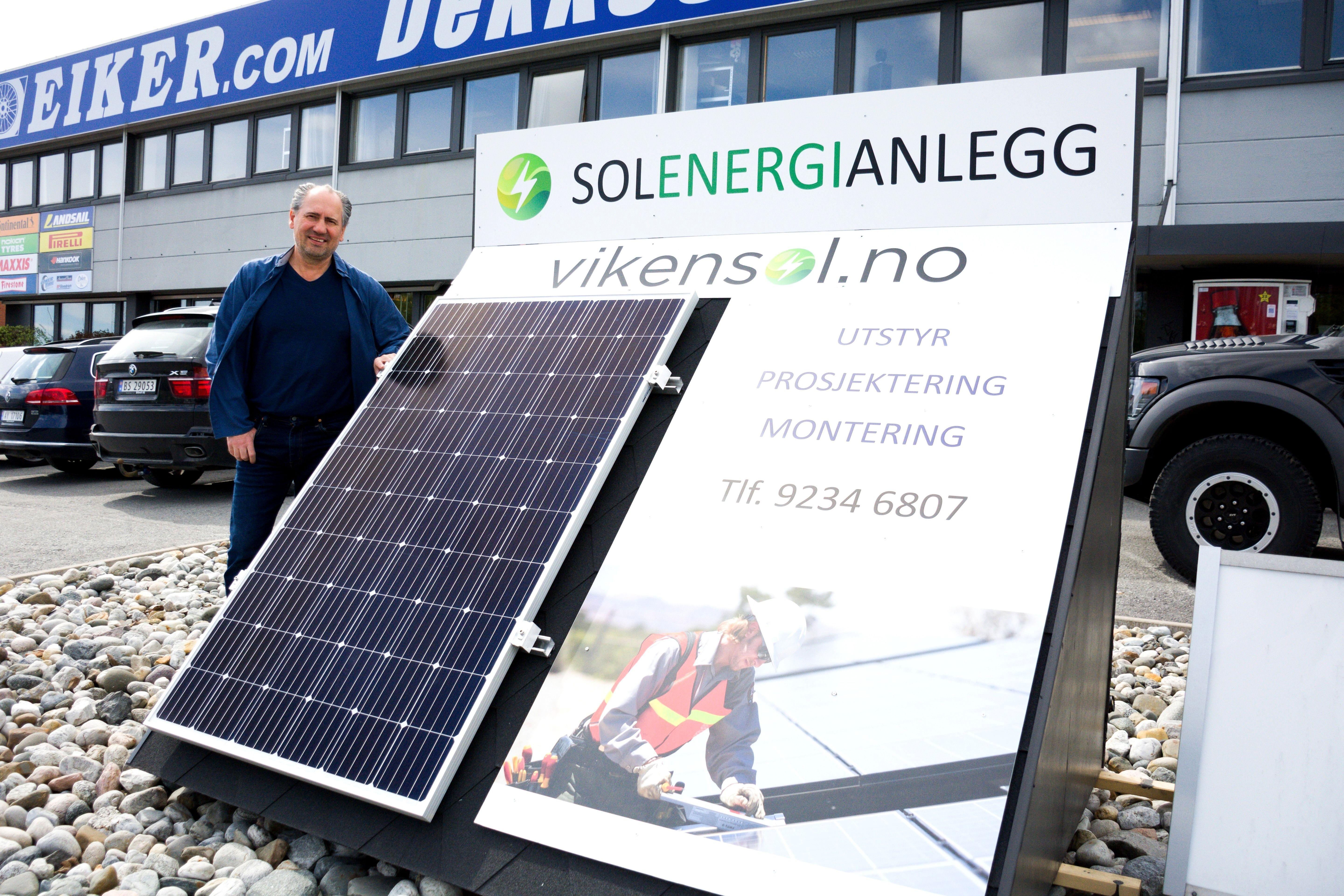 Peter Grubyi har startet Viken Sol, som sammen med sine samarbeidspartene, leverer skreddersydde solcelleanlegg for privat- og fritidsboliger, næringsbygg og andre installasjoner.