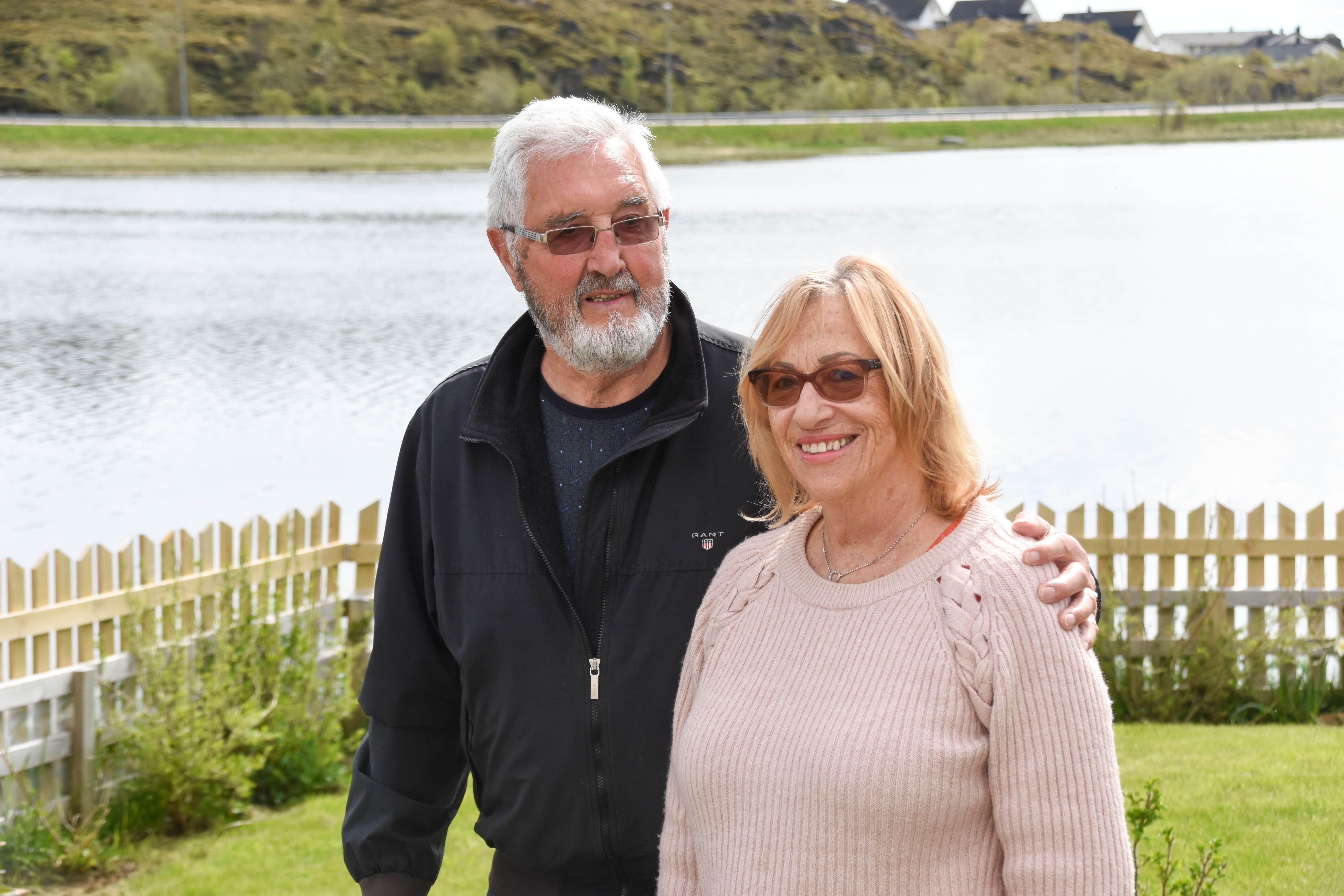 Arne og Allis Arctander synes det er nydelig i Haldsvågsvingen.