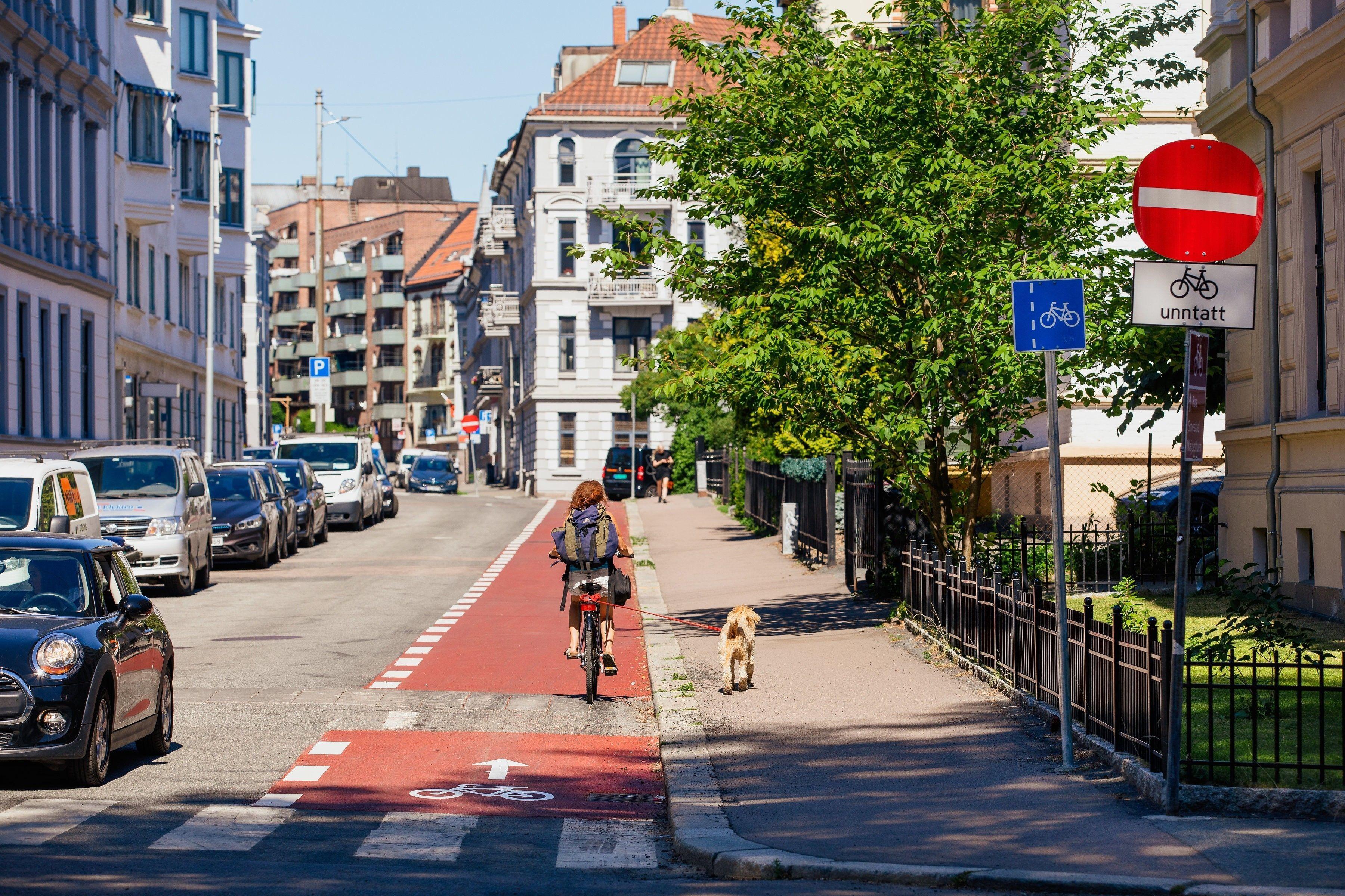 ALTERNATIV TIL BUSS OG TOG: Tohjulingen også kjent som sykkel.